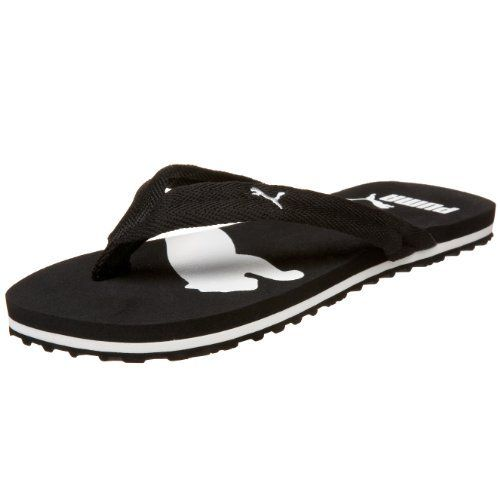 puma women 39 s basic flip flop sandal black white 6 5 b puma. Black Bedroom Furniture Sets. Home Design Ideas