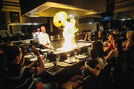 Teppanyaki tables at Zen Restaurant #HardRock #Hotel #PuntaCana