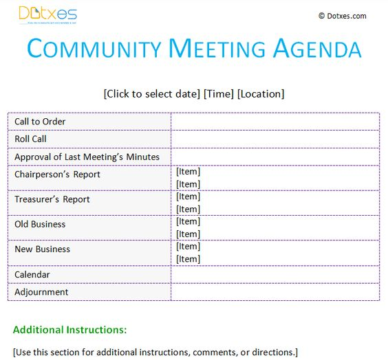 Board Meeting Agenda Template With Basic Format  Agenda Templates