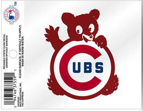 Chicago Cubs 1968 Static Cling Window Decal Sticker Set Of 2 By Rico Tag In 2020 Sticker Set Window Decals Static Cling