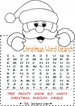 Printables easy christmas word search for kids Printable