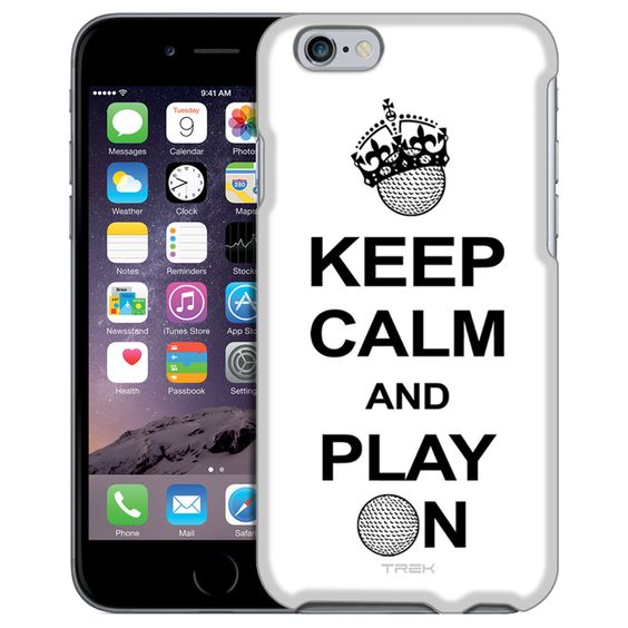 Apple iPhone 6 KEEP CALM And Play On - Golf on White Case