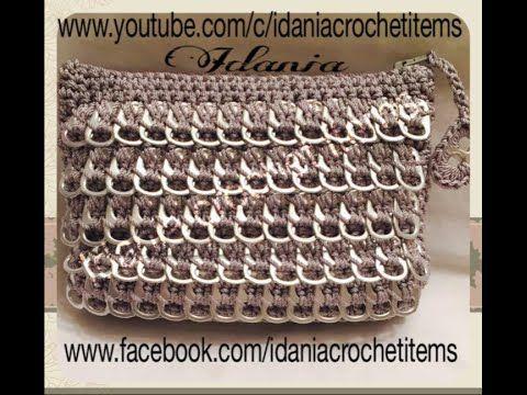 DIY: como hacer un bolso de anillos de lata muy facil de elaborar. visiten mi pagina de facebook www.facebook.com/idaniacrochetitems