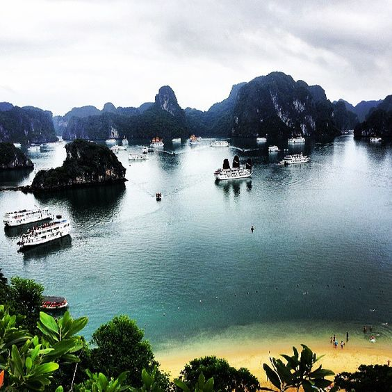 Ha Long Bay, as we ascended Titop Island.