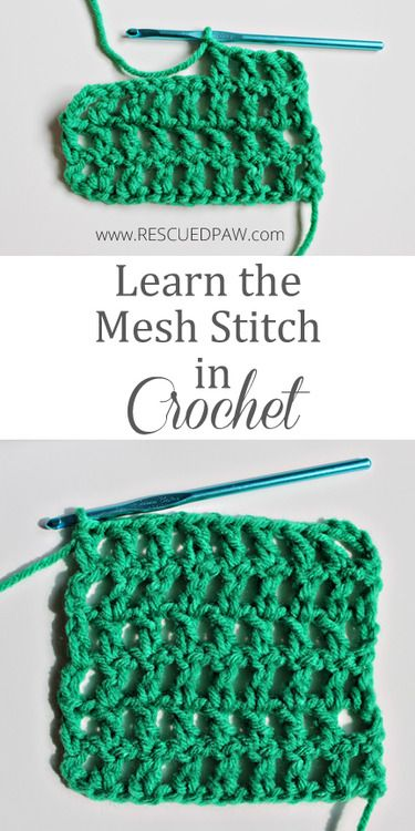 Beginner Crochet Stitch Tutorial : Learn to Crochet the Mesh Stitch from Rescued Paw Designs ...