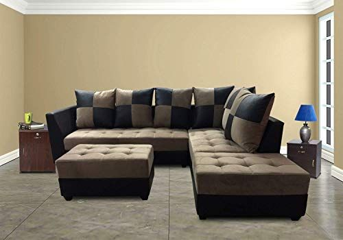 Fursure Rexine And Velvet Upholstered L Shape 5 Seater So Https Www Amazon In Dp B07bqd6d4s Ref Cm Sw R Pi Sofa Set Online L Shaped Sofa L Shape Sofa Set