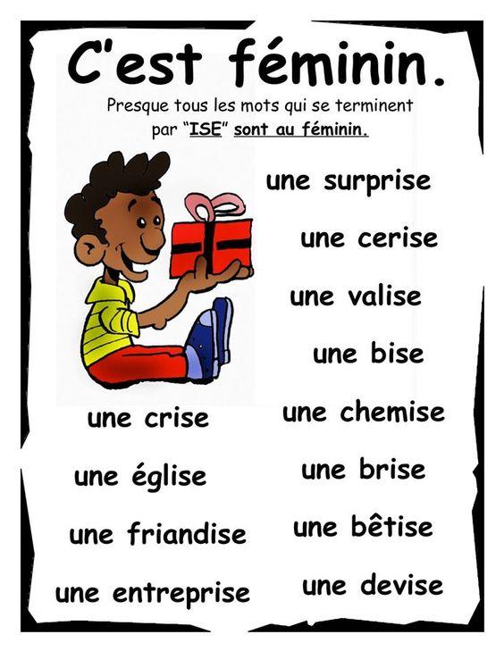"""Mots finissant par """"ise"""":"""