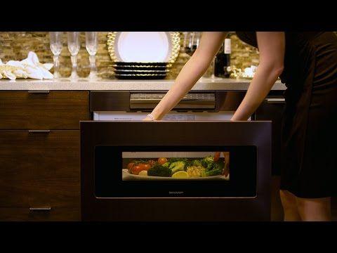 Meet The Sharp Black Stainless Steel Microwave Drawer Youtube Sharp Microwave Drawer Microwave Drawer Sharp Microwave
