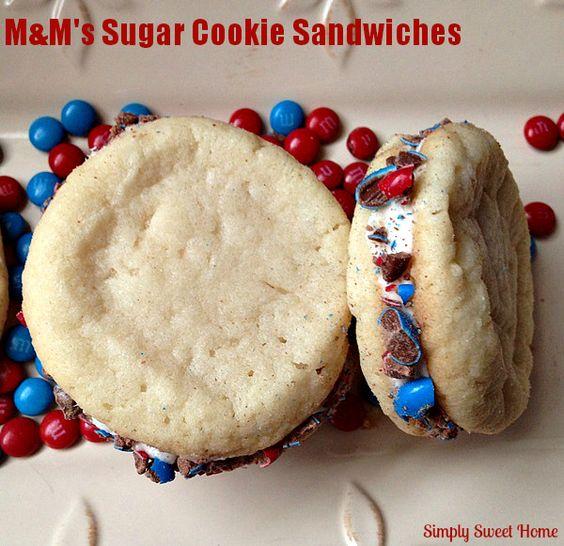MandM's Sugar Cookies Inspired by Captain America