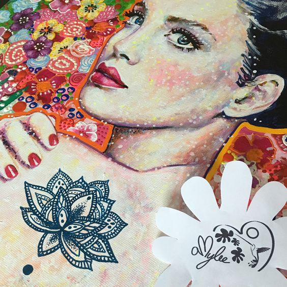 Sneak Peek Amylee's painting #art #portrait #flowers #colours