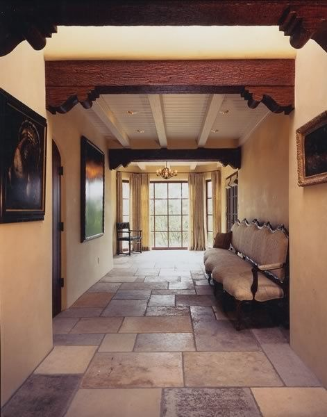 Santa fe style entry love the floor future dreams - Southwestern home design and remodeling ...