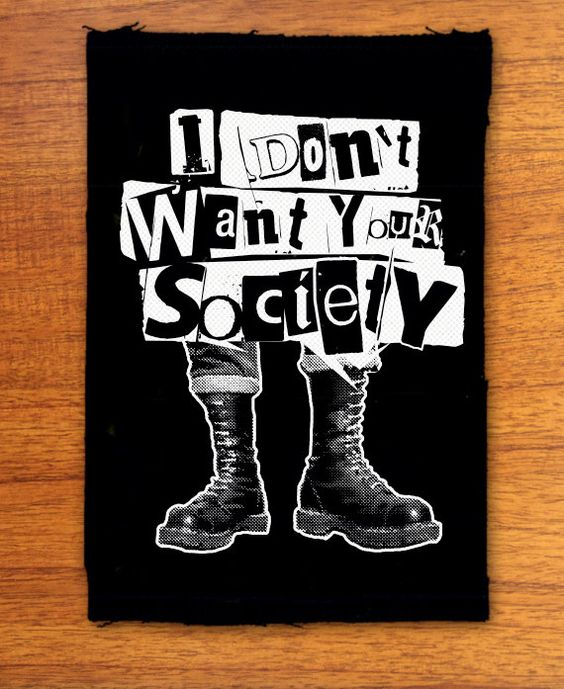 Anti Society punk patch punk patches by OneHandPrinting on Etsy