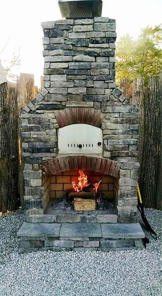 Custom Built Outdoor Fireplace Pizza Oven Combo Outdoor Fireplace Pizza Oven Backyard Fireplace Outdoor Fireplace