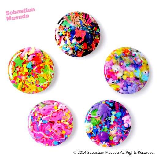 picture of Sebastian.M Colorful Rebellion Seventh Nightmare Small Badges (Set of Five) 1
