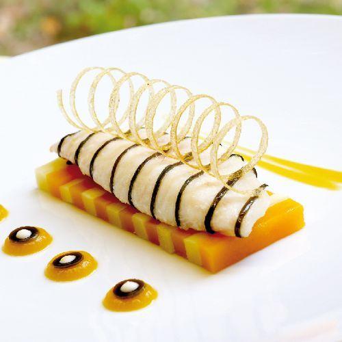 A gastronomie recettes poissons saint pierre aux algues courges et panais l orange - Recette plat gastronomique ...