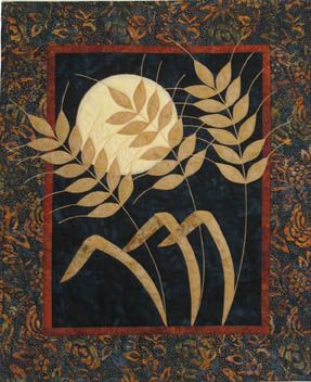 Harvest Moon - Wheat Wall Quilt Pattern | quilts | Fall ... |Wheat Quilt Patterns