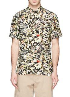 WHITE MOUNTAINEERINGFloral print short-sleeve shirt