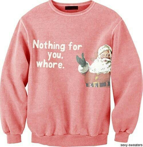 Ho Ho Holy Shit Chat Ugly Christmas Sweater No/ël Sweatshirt
