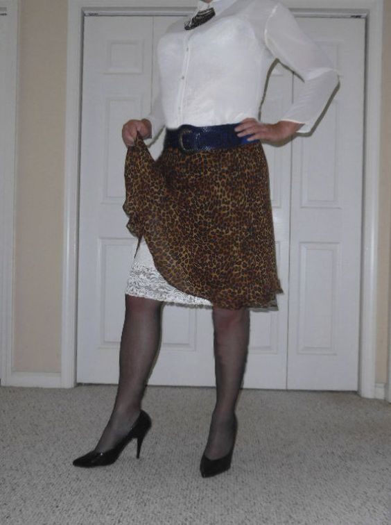 George gorgeous brown animal print A-line multiple layer leopard skirt M size 8