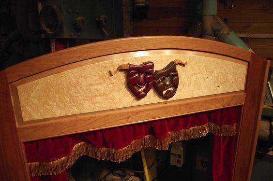 Purpleheart and Walnut Comedy/Tragedy Masks