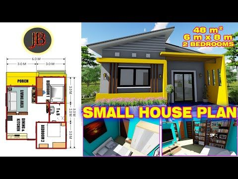 530 Small House Plan Of 48 Sq M With 2 Bedrooms With Floor Plan Interior Layout Youtube Small House Plan House Plans Small House Small house plan in kolkata