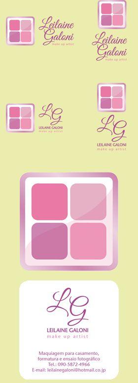 Logomarca e cartão de visita com frente e verso para LEILAINE GALONI