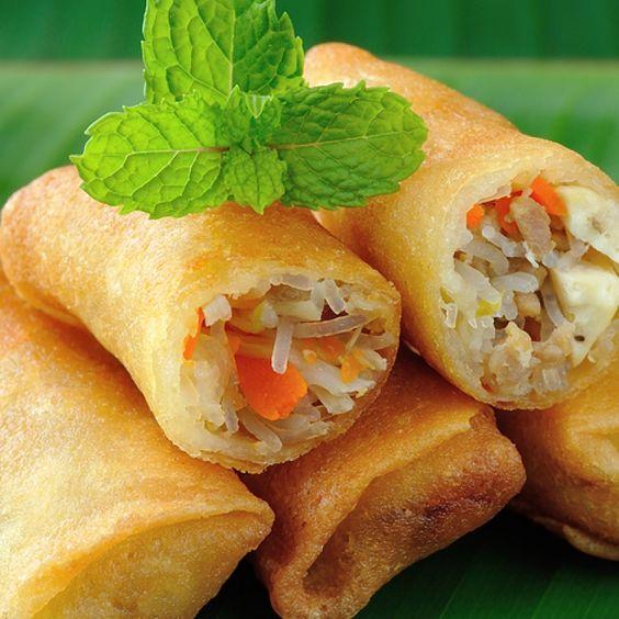Spring rolls, Roll recipe and Ground chicken on Pinterest