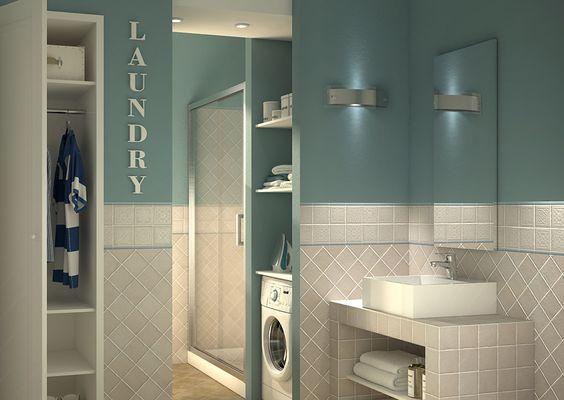 Bagno lavanderia con guardaroba: una soluzione per la famiglia ...