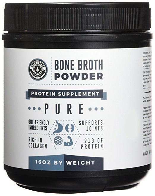 Bone Broth Protein Powder Pure 16oz 100 Grass Fed Beef Unflavored Paleo Friendly Dairy Free Protein Powder Bone Broth Protein Powder Paleo Protein Powder