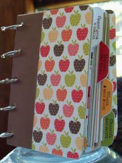 Recipe book made out of scrapbook