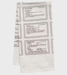 Retro Recipes Organic Kitchen Towel
