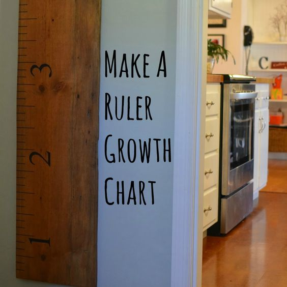 Make a ruler growth chart. Simple. Frugal. Kids. Family.
