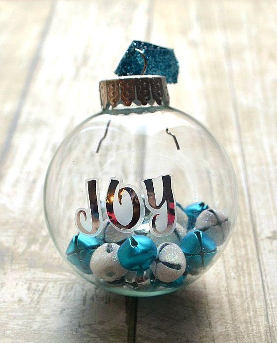 Homemade Christmas Ornaments Jingle Bells: JOY Jingle Bell Ornament. * Would Use This Idea Of The