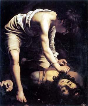 CARAVAGGIO - DAVID E GOLIAS - 1599-1600 - MUSEU DO PRADO