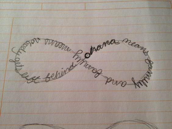 Dads ohana tattoo and what i want on pinterest for Ohana infinity tattoo