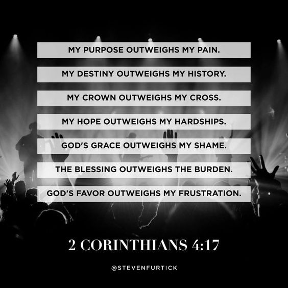 Pastor Steven Furtick, quote from the sermon Measuring More. 2 Corinthians 4:17