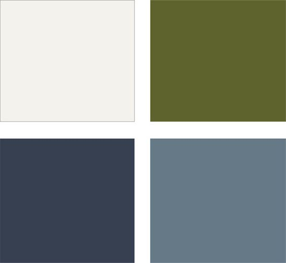 Living Room: Navy, And As An Accent Color Via Pillows And