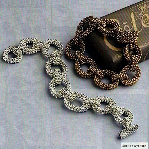 Chain Link Bead Bracelet Tutorial (Free Pattern) - Cute!