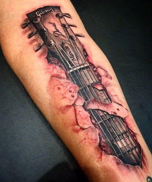Guitar Tattoo Tattoos For Guys Music Tattoos Tattoos For Lovers Cool Tattoos For Guys In 2020 Guitar Tattoo Design Tattoos For Guys Cool Tattoos For Guys