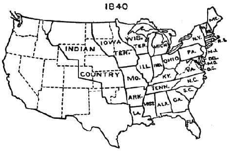 us maps with states About the 1840 census genealogy