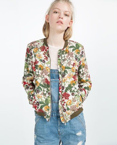FLORAL PRINT BOMBER JACKET-OUTERWEAR-COLLECTION-TRF-SALE | ZARA United States