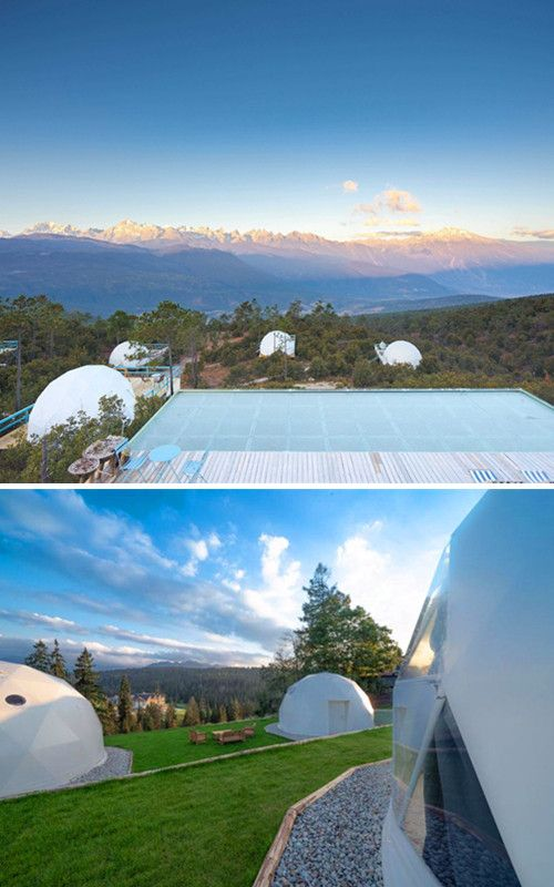 Esta Casa De Glamping Con Carpa Domo Unica Es Perfecta Para Parejas Y Familias In 2020 Geodesic Dome Dome Tent Geodesic