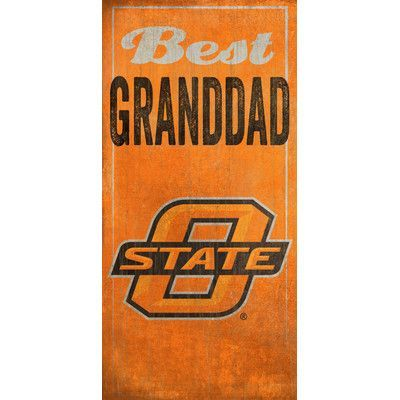 Fan Creations NCAA Best Granddad Textual Art Plaque NCAA Team: Oklahoma State University