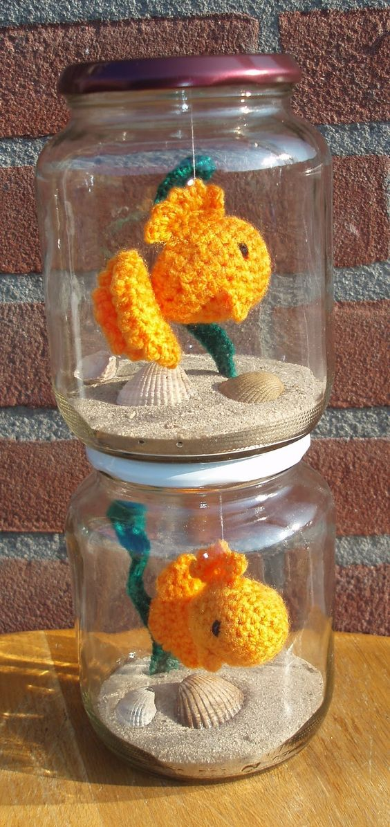Crochet fish in a jar gifts for every occasion for Fish in a jar