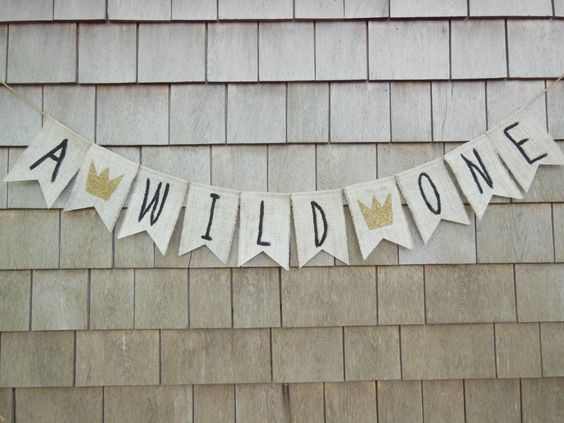 Where the Wild Things Are First Birthday Banner, Where the Wild Things Are Shower Decor, 1st Birthday Banner, 1st Birthday Burlap Garland by IchabodsImagination on Etsy https://www.etsy.com/listing/237132948/where-the-wild-things-are-first-birthday
