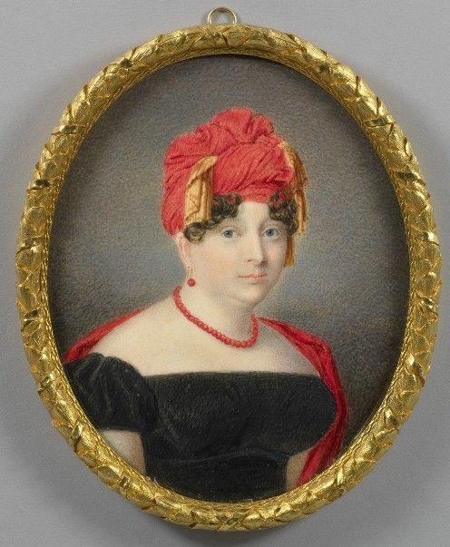 принцесса Елизавета, дочь Георга IIIl.  миниатюра Каспара Герхарда Клотца, 1818-20 гг.: