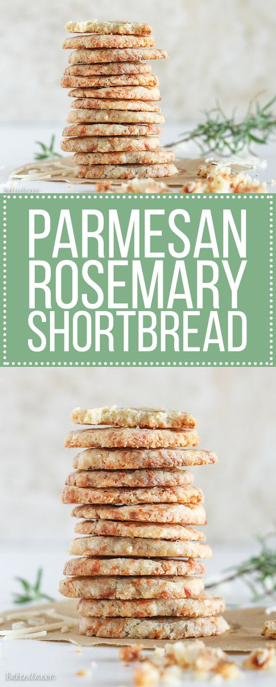 These Parmesan Rosemary Savory Shortbread Rounds are tender slice and ...