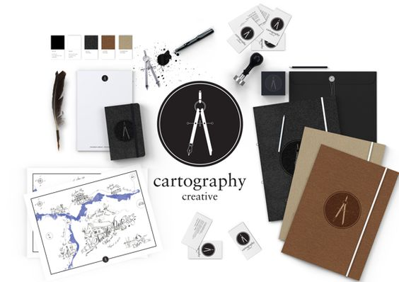 Cartography Creative by Laura Fish, via Behance