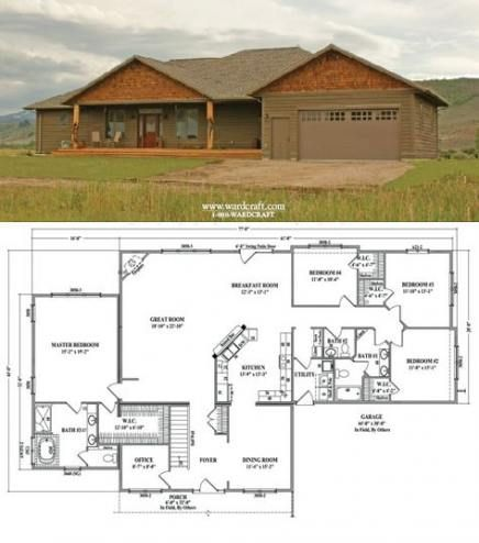 House Layout 4 Bedroom Offices 23 Trendy Ideas New House Plans House Blueprints House Layouts