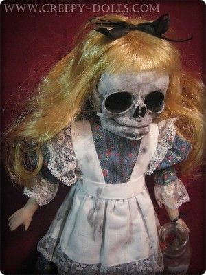 Creepy Skull Head Alice in Wonderland Doll by BASTET2329 | eBay